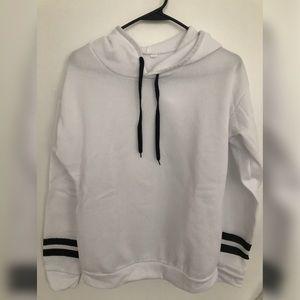 Sweaters - White Pullover Sweatshirt Winter Fall Hoodie